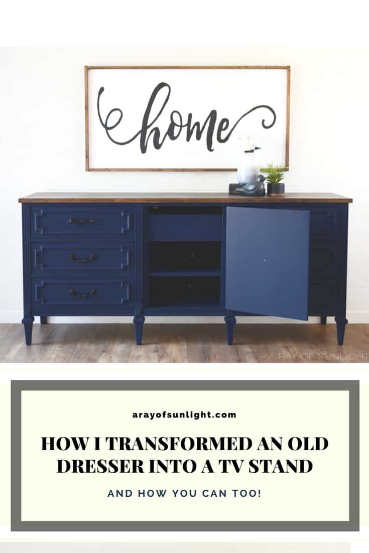the navy blue dresser with an antique finish a ray of sunlight. Black Bedroom Furniture Sets. Home Design Ideas