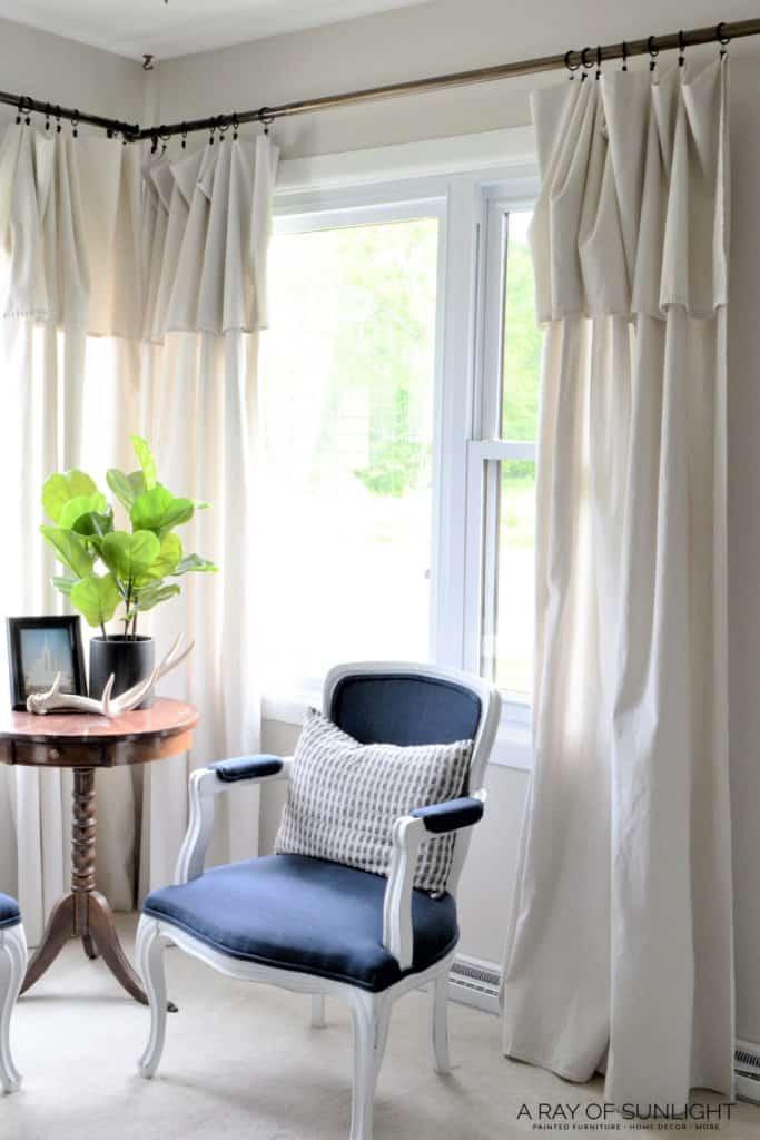 Cheap No Sew Farmhouse Curtains A Ray Of Sunlight