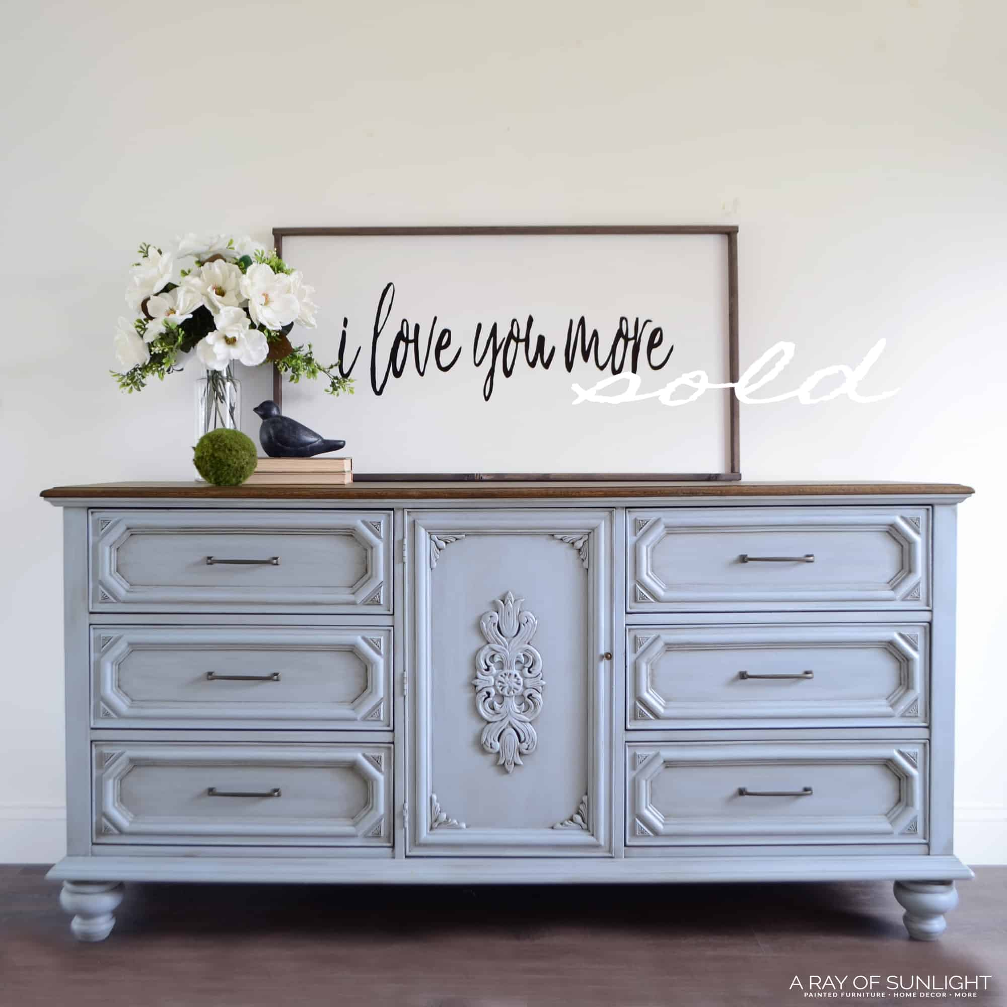 Sold Antique Blue 9 Drawer Dresser A Ray Of Sunlight