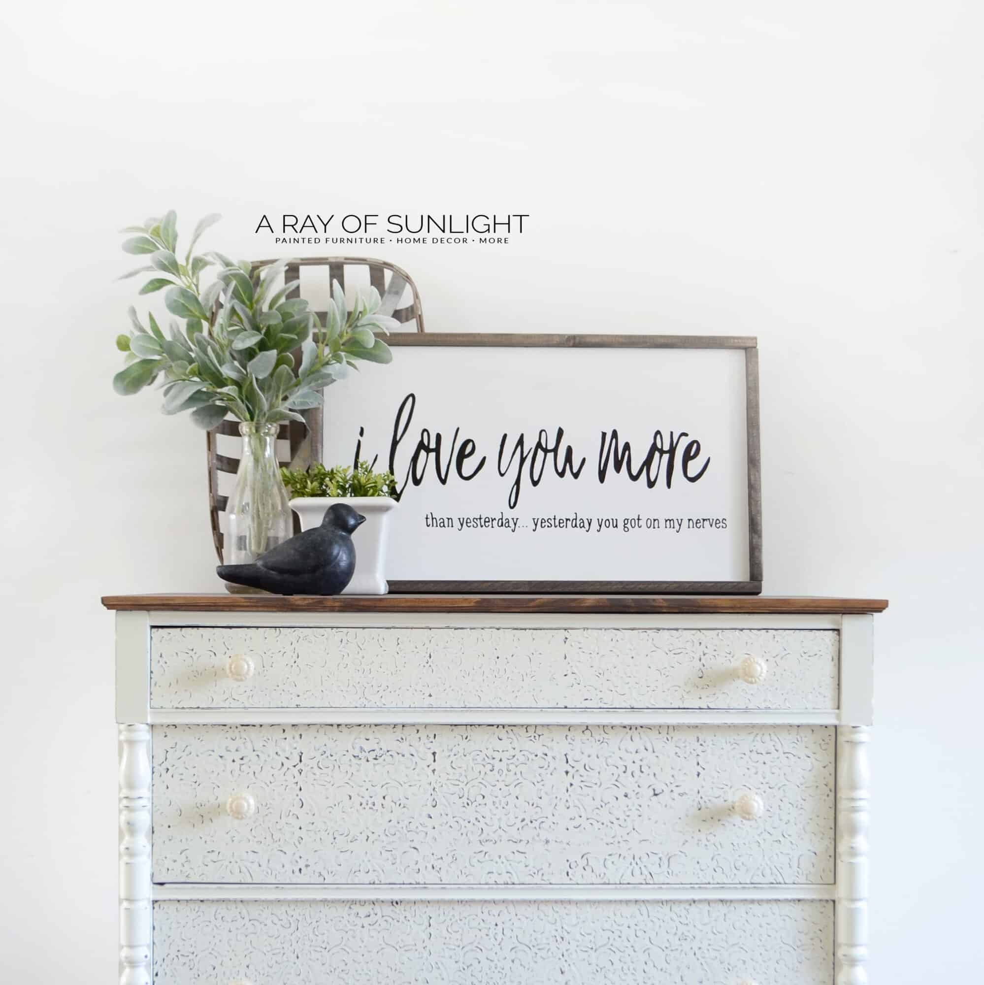 The Best Stencil For Painted Furniture! Create Wood Details With Some  Paint, A Stencil