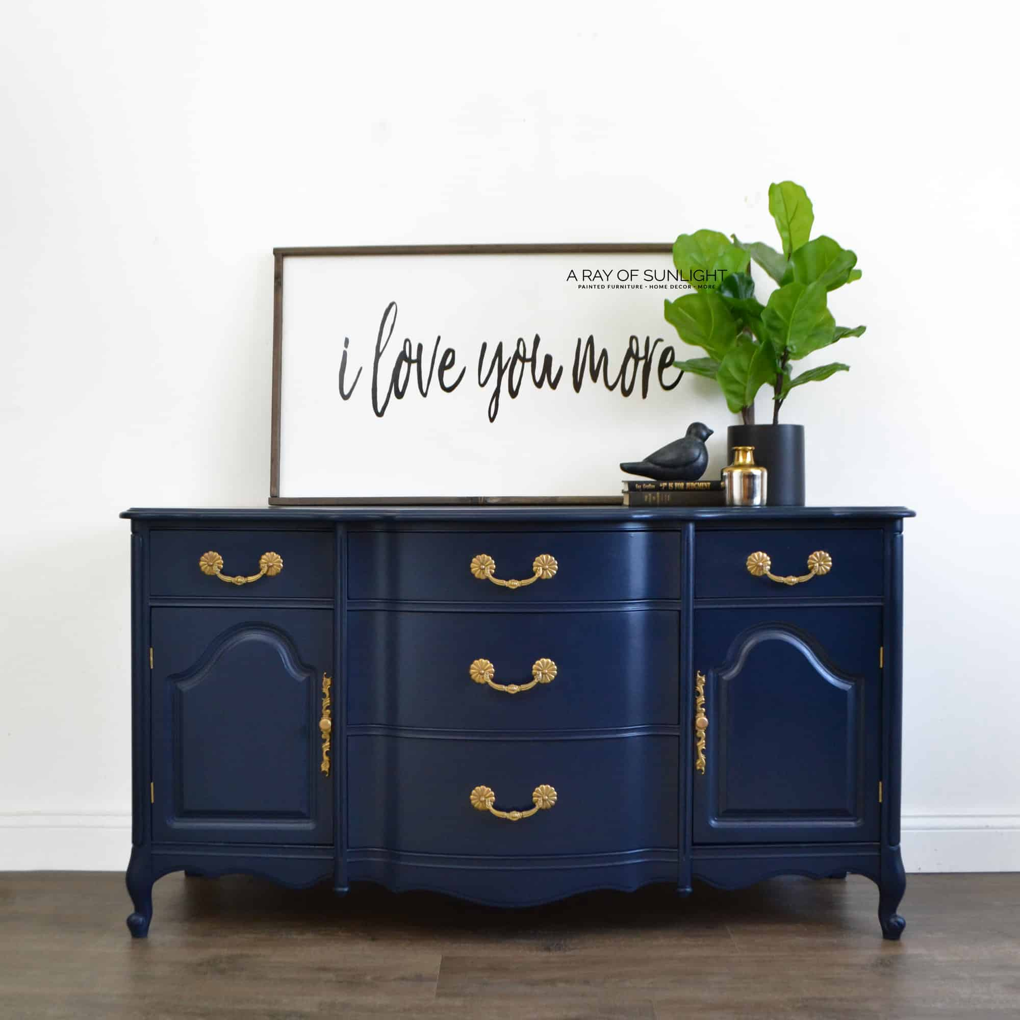 sold the navy blue buffet free shipping a ray of sunlight. Black Bedroom Furniture Sets. Home Design Ideas
