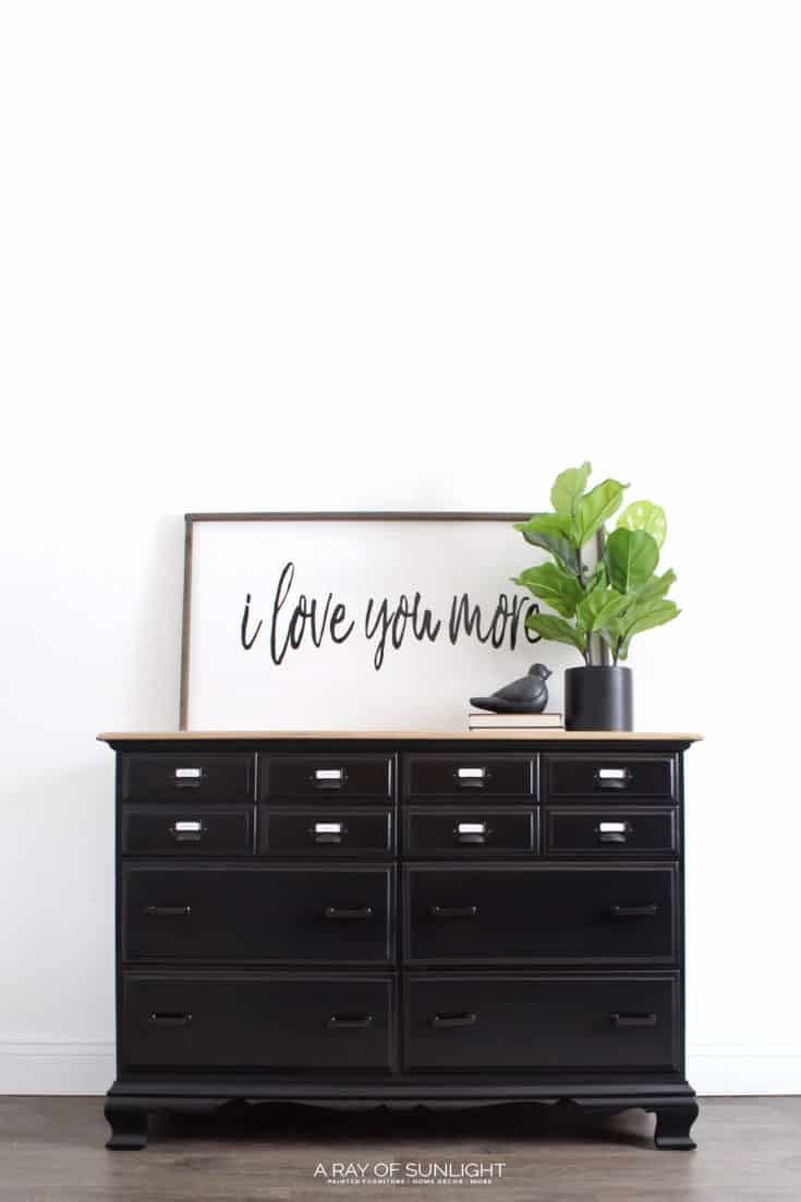 How to Easily Paint Black Furniture - One of the hardest colors to ...